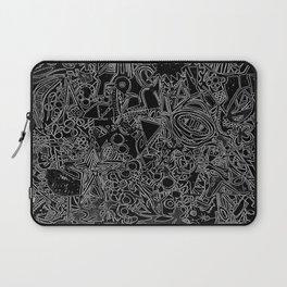 White/Black #1 Laptop Sleeve