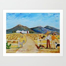 The Enmedio Ranch El Rancho de Enmedio Oil on Canvas Juan Manuel Rocha Kinkin Art Print
