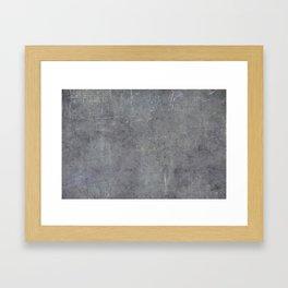 gun metal texture Framed Art Print