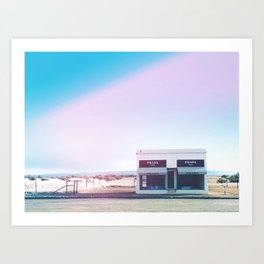 Store in Marfa, Texas Art Print