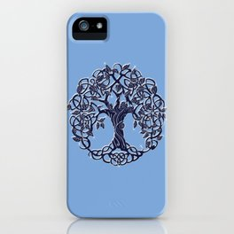 Tree of Life Blue iPhone Case