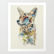 Heroes of Lylat Starfox Inspired Classy Geek Painting Art Print
