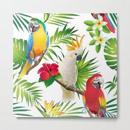 Seamless pattern of parrots Metal Print