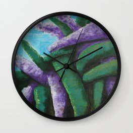Buddleia abstract Wall Clock