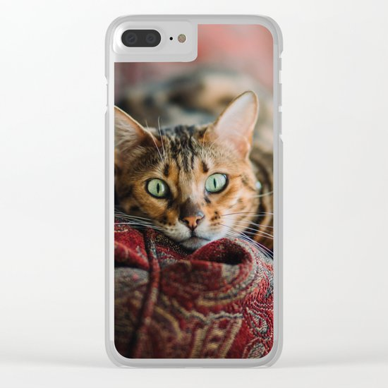 Cat eyes Clear iPhone Case