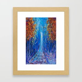 Impressionist Autumn -  ( inspired by Pollock ) Framed Art Print