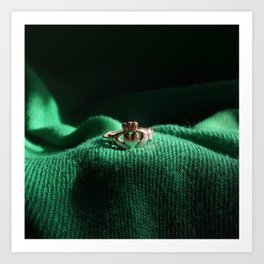 Claddagh Ring Art Print