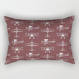 Biplanes // Tosca Red Rectangular Pillow