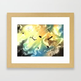 Freedom Of Birds Framed Art Print