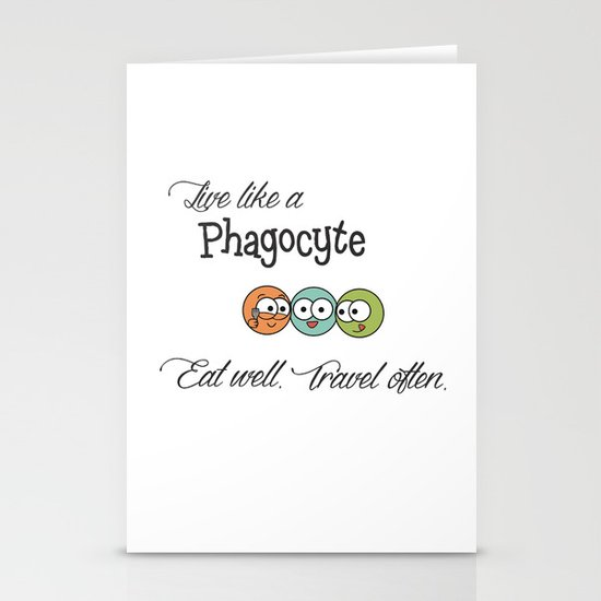 Like a Phagocyte Stationery Cards
