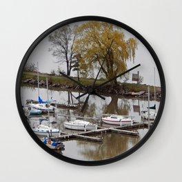 Weeping Willow and the Marina Wall Clock