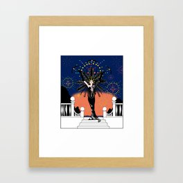 La Grande Vie Mardi Gras Framed Art Print