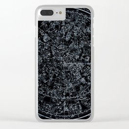 Northern Hemisphere Constellations White Blue Clear iPhone Case