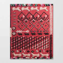V22 Sheep herd Design Traditional Moroccan Carpet Texture. Canvas Print