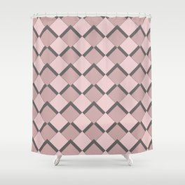 Pink fortyfive Shower Curtain