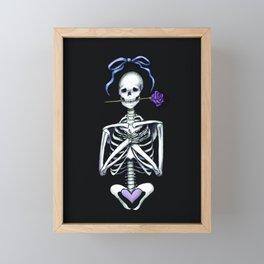 romantic skeleton Framed Mini Art Print