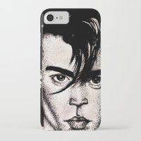 johnny depp iPhone & iPod Cases featuring Johnny Depp by Devon Opp