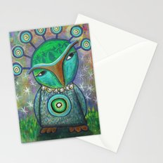 Alien Owl Stationery Cards