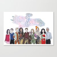 firefly Canvas Prints featuring Firefly by enerjax