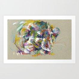 Vénielle the rat I Art Print