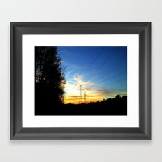 Pole Line Framed Art Print