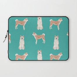 Akita dog breed pet portrait gift for dog lover akitas pet friendly Laptop Sleeve