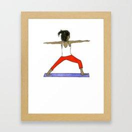 Yoga Folks - Warrior.   Framed Art Print