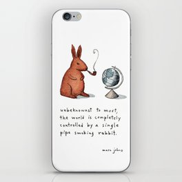 Pipe-smoking rabbit iPhone Skin