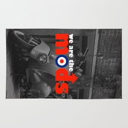 We Are The Mods Music Quote Rug