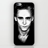 tom hiddleston iPhone & iPod Skins featuring Loki (Tom Hiddleston) by Olive in Pinkland