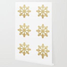 Gold Glitter Snowflake Wallpaper