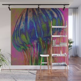 Electric Jellyfish Wall Mural