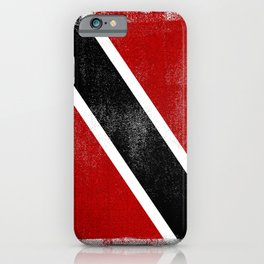 Trinidad and Tobago Distressed Halftone Denim Flag iPhone Case