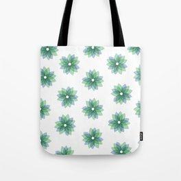 Geo Spring Flowers 01 Tote Bag