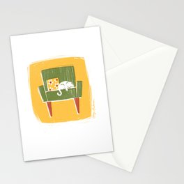 Cat on a Chair Stationery Cards