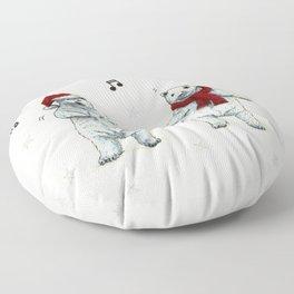 The polar bears wish you a Merry Christmas Floor Pillow