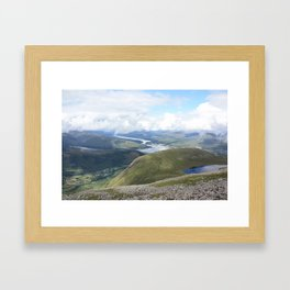 A Scottish panorama from Ben Nevis Framed Art Print
