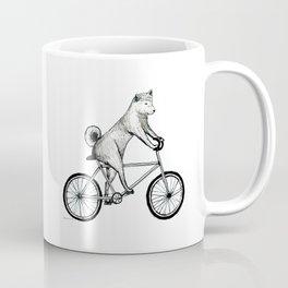 Shiba Inu Riding a Bicycle Coffee Mug