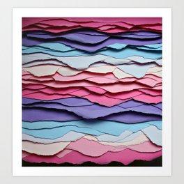 Colour waves Art Print