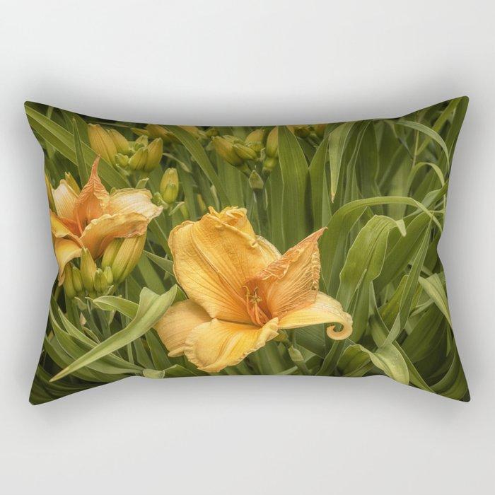 Orange Daylilies Rectangular Pillow