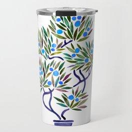 Bonsai Fruit Tree – Blue Palette Travel Mug