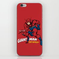iron giant iPhone & iPod Skins featuring Giant Man & The Wasp by Draganmac