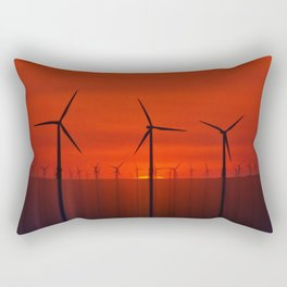Wind Farms (Digital Art) Rectangular Pillow