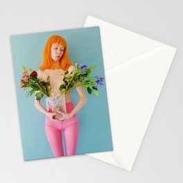 esmee as me with flowers Stationery Cards