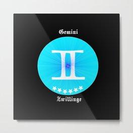 Zodiac Gemini, starsign gemini Metal Print