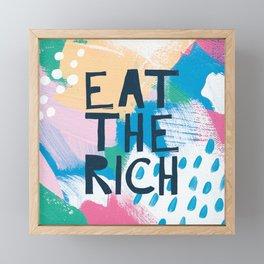 Eat The Rich Framed Mini Art Print