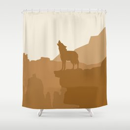 Coyote howling at the Sand Shower Curtain