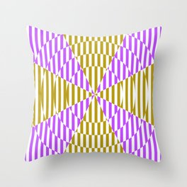 Crossing the lines - the magenta and yellow optical illusion Throw Pillow