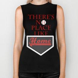 There's no place like home (baseball theme) Biker Tank