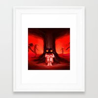 majora Framed Art Prints featuring MAJORA MASK by Veylow